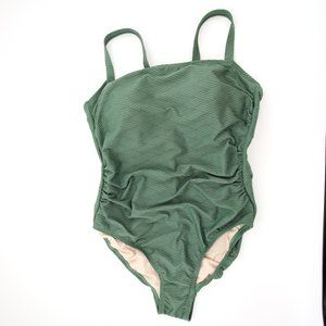 NWOT Green Textured One Piece Tummy Control Swim
